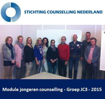 Groepsfoto jongeren counselling - JC3 - 2015
